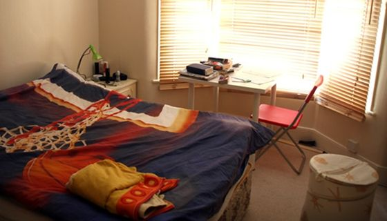 Typical student house room
