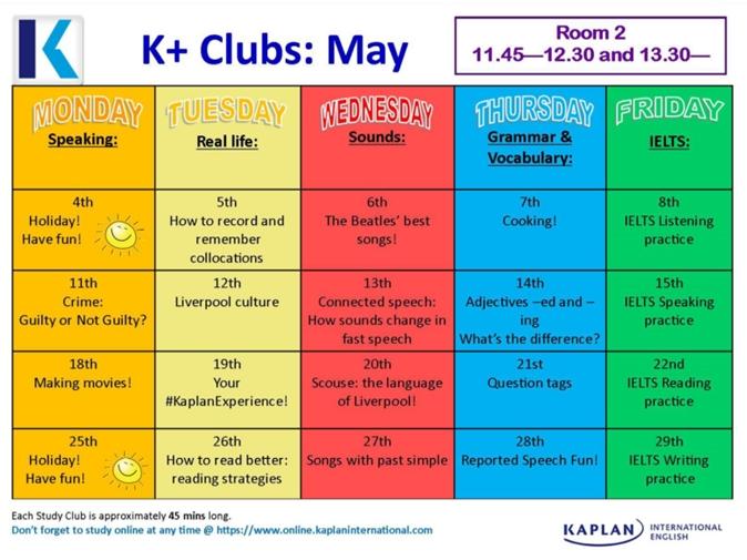 카플란 K+ Clubs