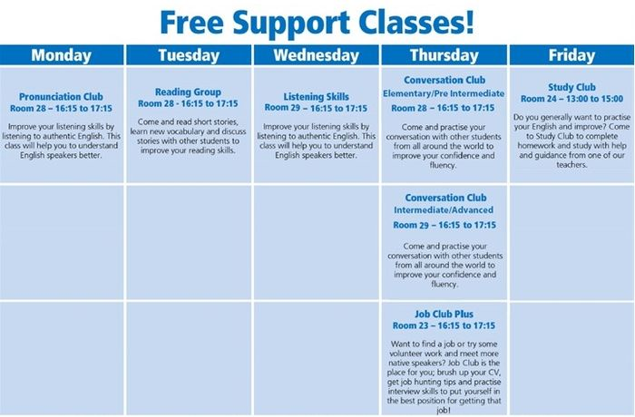 FREE support classes